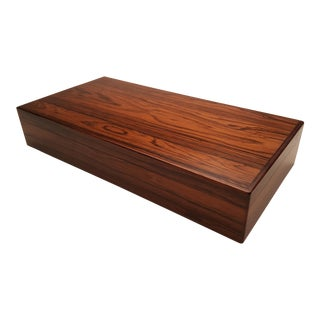 Vintage Mid Century Danish Rosewood Box For Sale