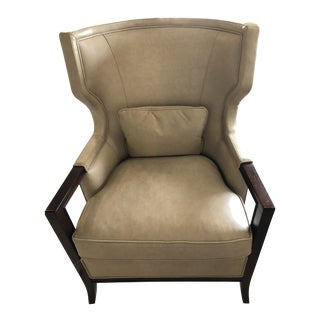 Baker Furniture Manor Wing Chair For Sale