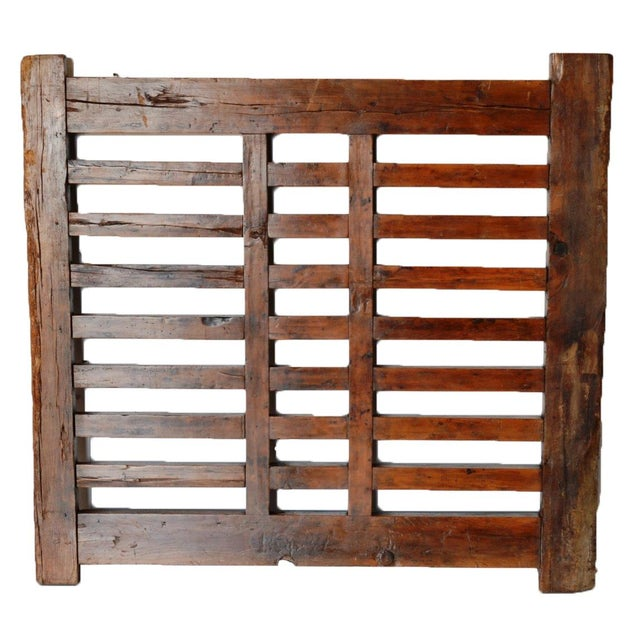 Brown 1970s Chinese Wooden Gate/Room Divider For Sale - Image 8 of 8