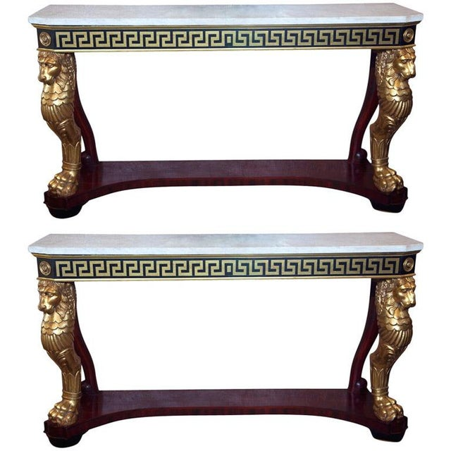 Neoclassical Consoles by Jansen - A Pair - Image 1 of 10