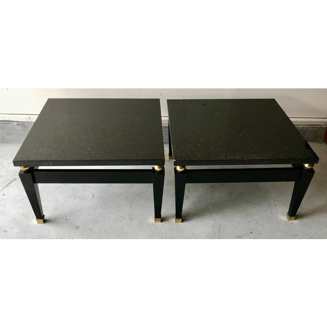 1980's Art Deco Black Lacquer Side Tables - a Pair For Sale - Image 9 of 9