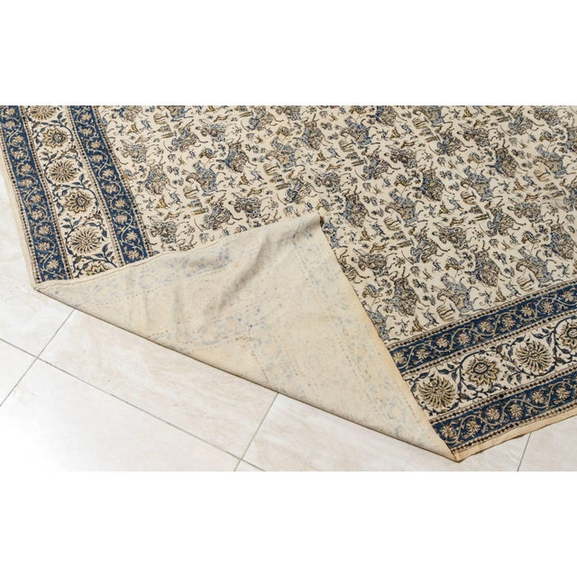 Metal Paisley Kalamkari Textile From India For Sale - Image 7 of 8