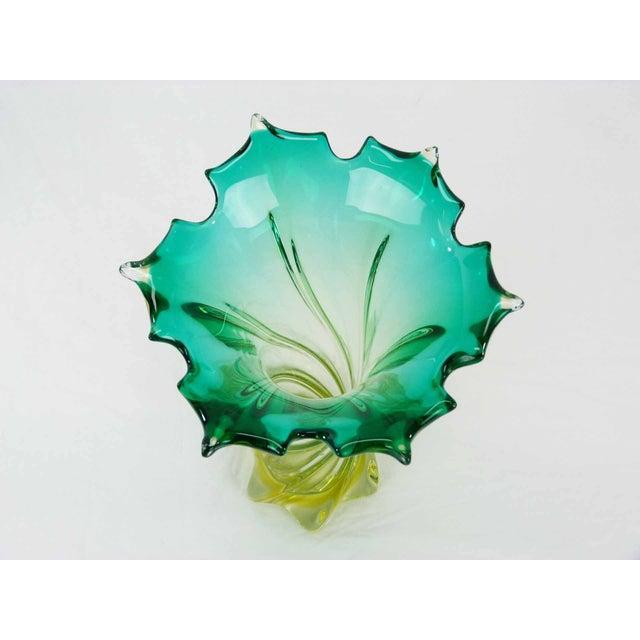 Murano Twisted Starbusrt Glass Vase - Image 4 of 5