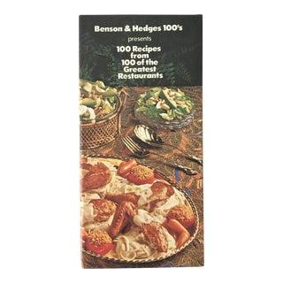 1978 Benson's & Hedges 100 Cookbook For Sale