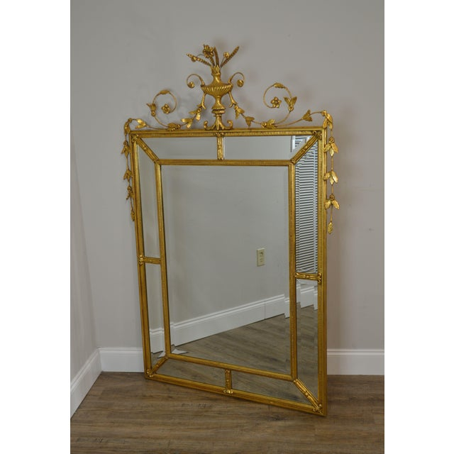 """French Friedman Brothers Gold Gilt Frame Louis XVI Style """"The Dorset-Cromwell"""" Mirror For Sale - Image 3 of 12"""