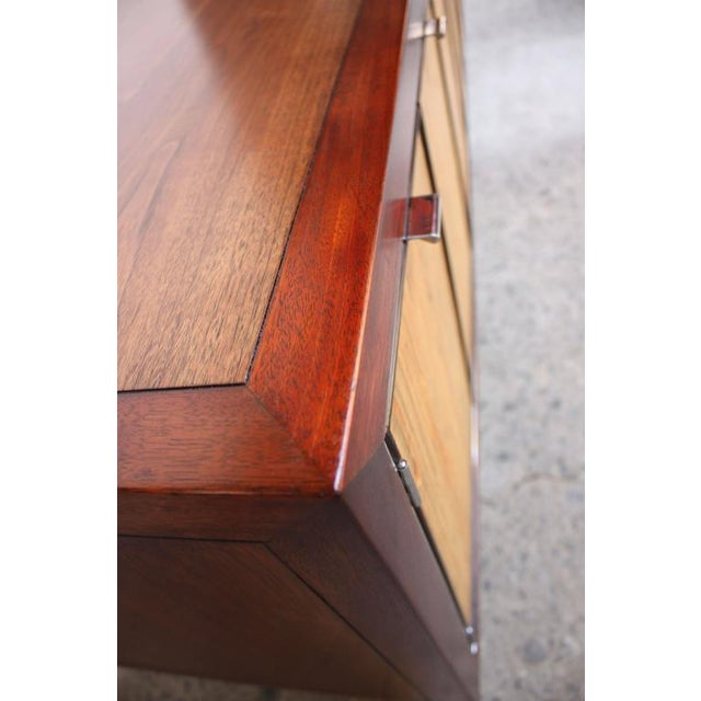 1970s Walnut, Bamboo and Cherry Credenza after Harvey Probber - Image 9 of 10