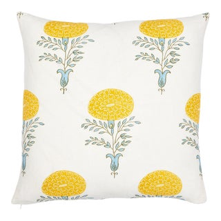 Schumacher X Molly Mahon Marigold Yellow Pillow For Sale