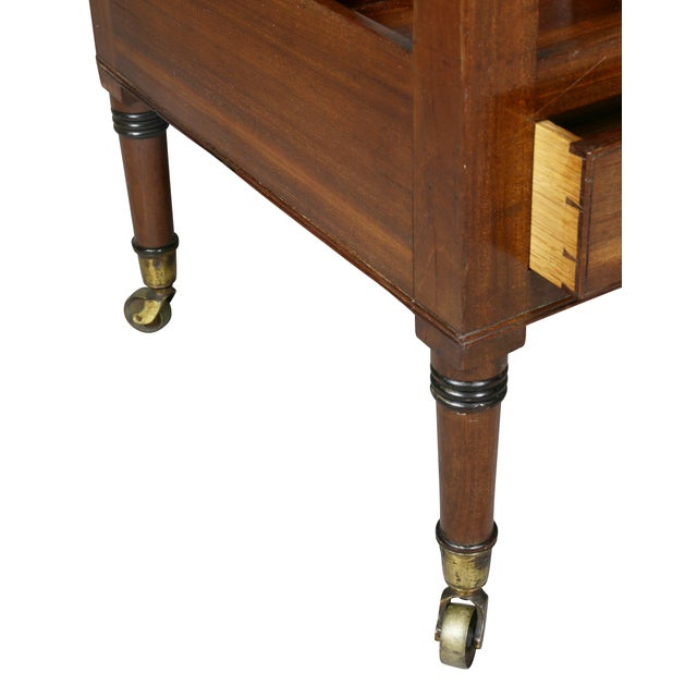 Late 19th Century Regency Style Mahogany Canterbury For Sale - Image 5 of 9