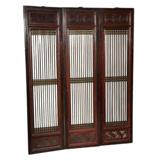 Set of Six 19th Century Original Lacquered Finish Elmwood Door Panels For Sale