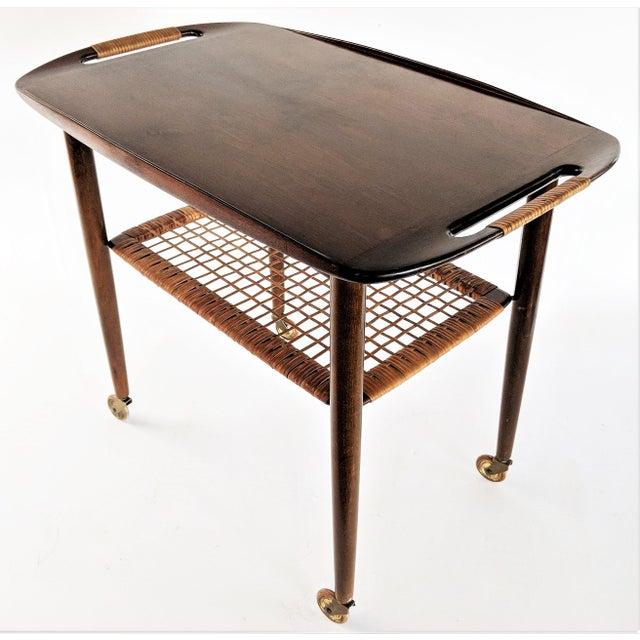 Danish Modern 1960s Vintage Paoul Jensin for Selig Danish Modern Bar Cart For Sale - Image 3 of 13