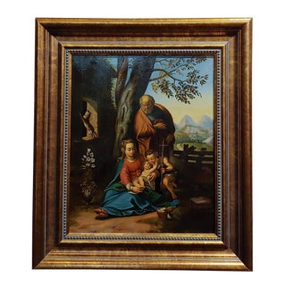 18th Century Old Master - the Holy Family - Oil Painting C.1740s