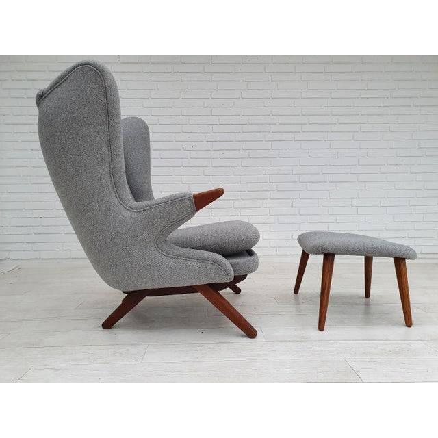"Mid-Century Modern 1970s Danish Design, ""Teddy Bear"" Chair by Svend Skipper, Completely Reupholstered For Sale - Image 3 of 13"