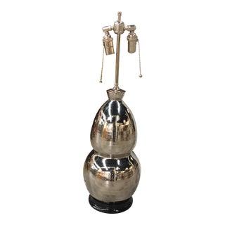 Christopher Spitzmiller Silver Ceramic Lamp.