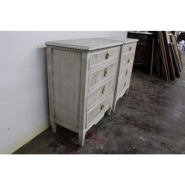 20th Century Vintage Swedish Gustavian Style Nightstands-A Pair For Sale In Atlanta - Image 6 of 11