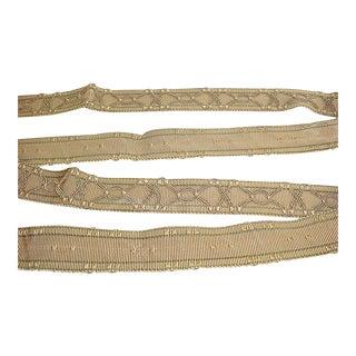 Lee Jofa Myron Olive Gold Sage Decorative Textured Gimp Tape Trim - 9-1/2y For Sale