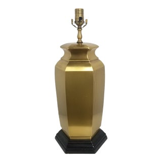 Vintage Wildwood Brass Hexagonal Ginger Jar Lamp For Sale