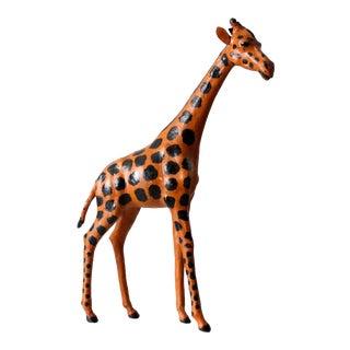 Vintage Leather Giraffe For Sale