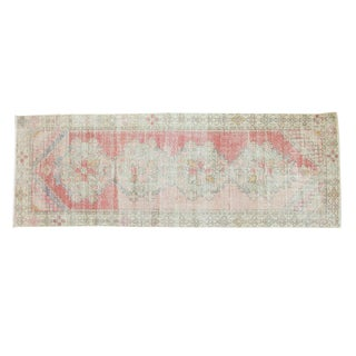 "Vintage Distressed Oushak Rug Runner - 3'2"" x 8'9"""