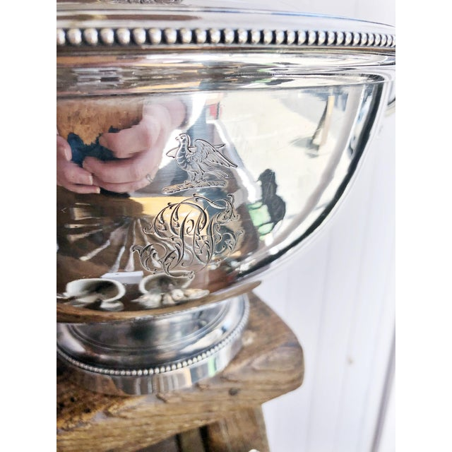 Antique Christofle Silver Tureen With Armorial Engraving For Sale - Image 12 of 13