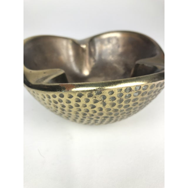 1950s Ben Seibel Dimpled Modernist Brass Catchall For Sale - Image 5 of 6