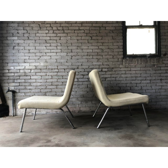 Metal 1990s Roche Bobois Chrome Lounge Chairs - a Pair For Sale - Image 7 of 13