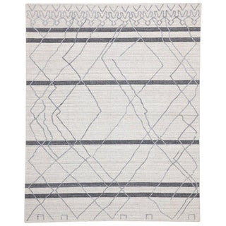 Contemporary Gray Moroccan Style Area Rug - 8′ × 10′ For Sale
