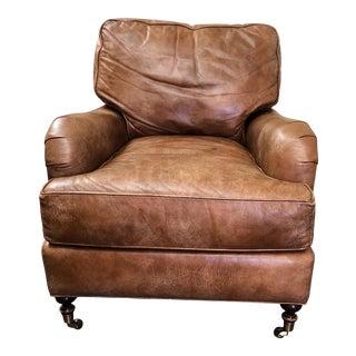 Lee Industries Distressed Leather Armchair