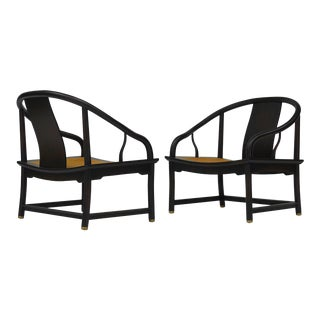Pair of Baker Far East Collection Lounge Chairs For Sale