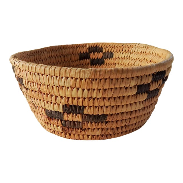 Small Papago Coil Basket For Sale