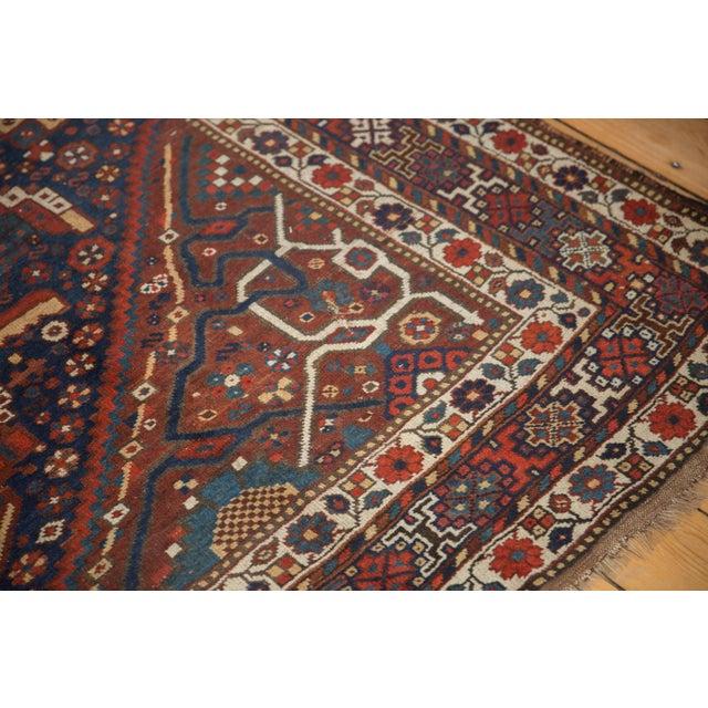 "Vintage Shiraz Carpet - 7'3"" X 10'2"" For Sale - Image 11 of 13"