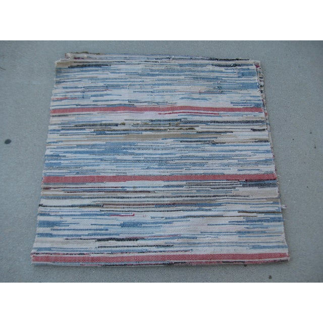 Americana Rag Rug Runner - 2′8″ × 10′4″ - Image 2 of 8