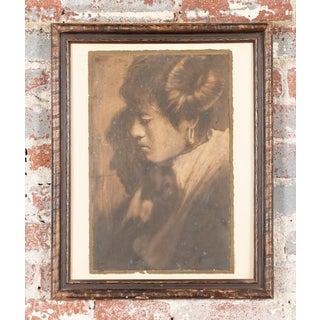 """Native American Woman Portrait"" Original Photograph by Edward Curtis Preview"