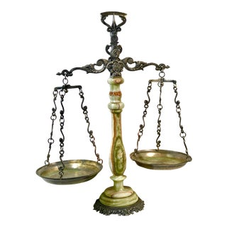 Mid 20th Century Italian Marble Justice Scale For Sale