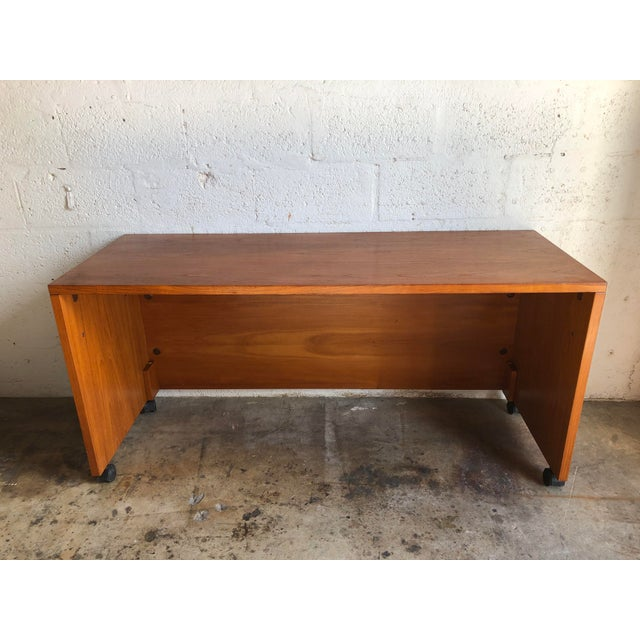 Vintage Mid Century Danish Modern Three Sided Desk by Jesper International For Sale - Image 13 of 13