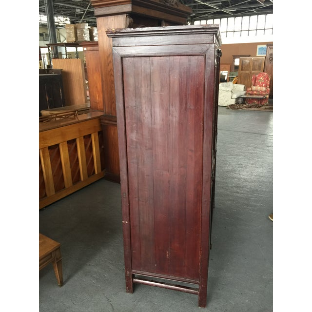 Antique Carved Asian Cabinet For Sale In San Francisco - Image 6 of 13