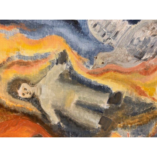 What do you say about something like this! William Blake meets Chagall. An overt religious theme suggests either the...