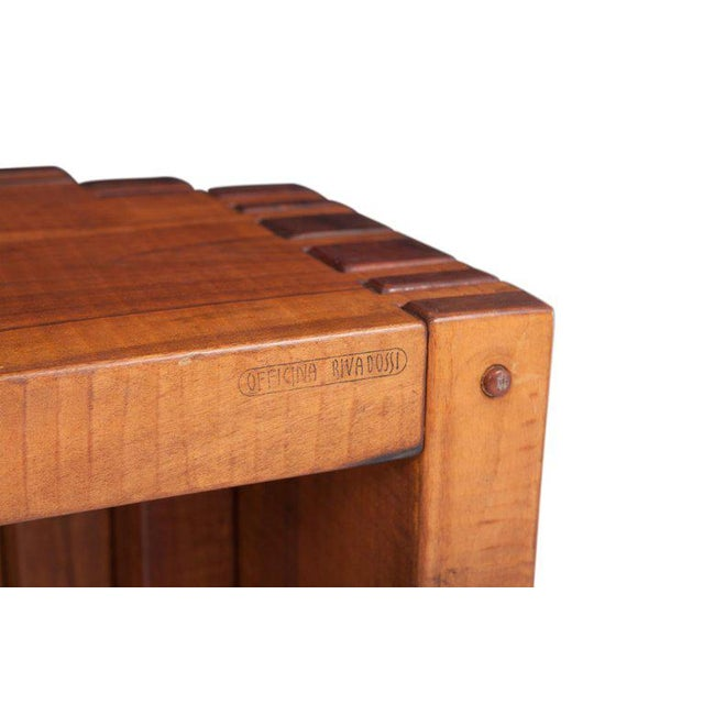 Rivadossi Hardwood Dining or Console Table For Sale - Image 4 of 13