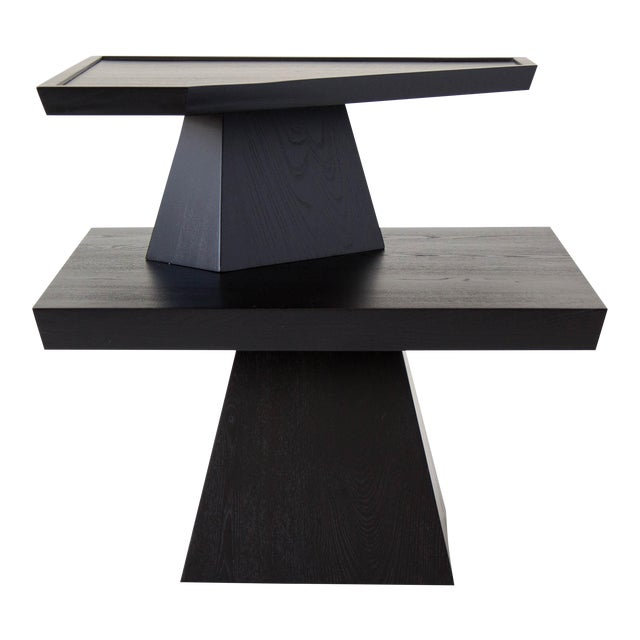 Brutalist Two-Tiered End Table - Image 1 of 11