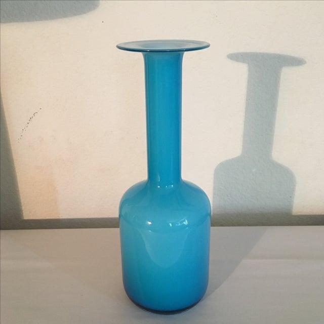 LSA Glass Blue Cased Cylinder Vase - Image 2 of 5