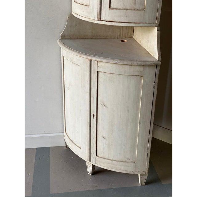Gustavian (Swedish) Antique Gustavian Corner Cabinet For Sale - Image 3 of 13