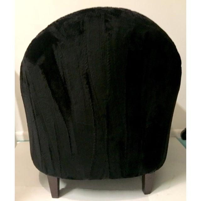 Art Deco Style Faux Mink Fur Club Chair - Image 6 of 6