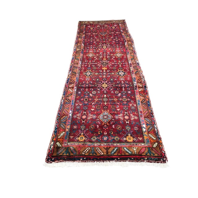 "Hosenibad Persian Runner - 3'2"" x 10'1"" - Image 1 of 8"