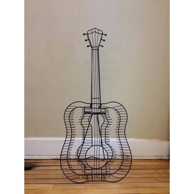 Vintage Metal Guitar Sculpture - Image 2 of 7
