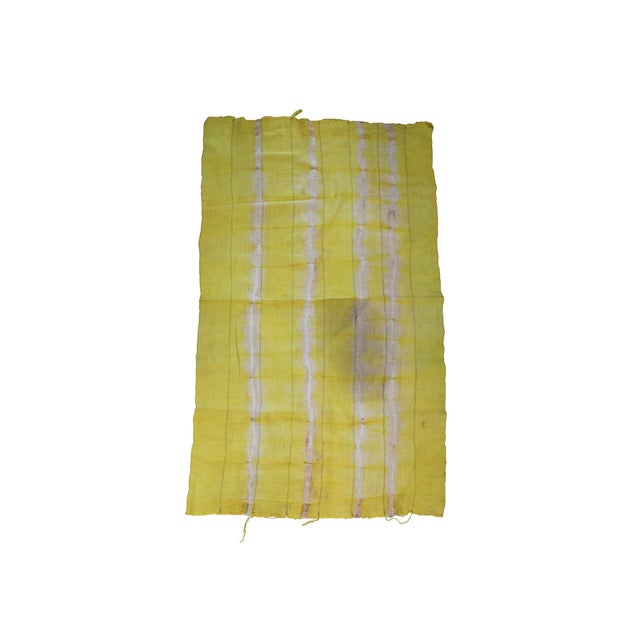 Vintage Yellow Textile For Sale - Image 4 of 4