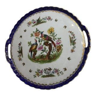 Vintage Austria Porcelain Pheasant Charger Plate / Tray For Sale