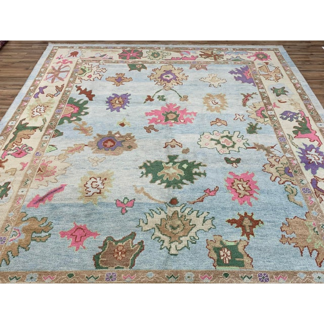 Contemporary Turkish Oushak Rug - 9′4″ × 13′3″, Pastel For Sale In Nashville - Image 6 of 13