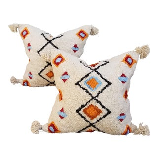 Pair Moroccan Wedding Quilt Pillows