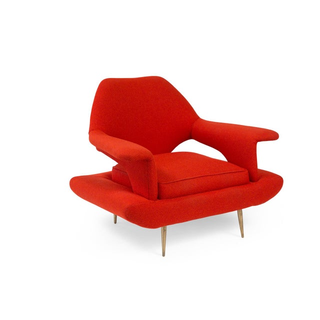 Sculptural Large Mid-Century Italian Lounge Chairs - a Pair For Sale - Image 4 of 10