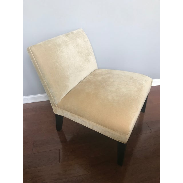 Textile Modern Mitchell Gold + Bob Williams Slipper Armless Accent Chair For Sale - Image 7 of 7