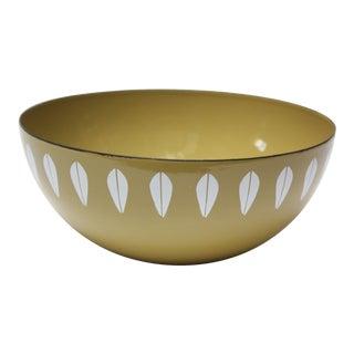 Norwegian Sage 'Lotus' Enamel Bowl by Arne Clausen for Cathrineholm For Sale